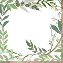Love & Leaves Lunch Napkins ~ 16 Pack