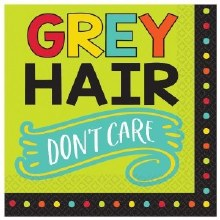 Grey Hair Lunch Napkins 16ct