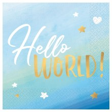 Hello World! Lunch Napkins 16ct