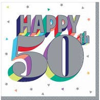 Happy 50th Birthday Lunch Napkins 16ct