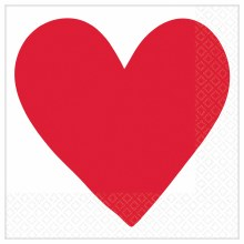 Heart Day Lunch Napkins 16pk