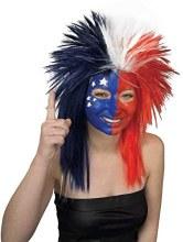 Wig Sports Fan R/W/B