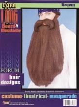 "Beard/Moustache Long 18"" Brown"