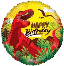 T-Rex Dinosaur Happy Birthday ~ 18""