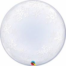 "Blln 24"" Bubble Snowflakes"