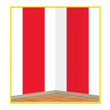 Backdrop Red/Wht Stripes