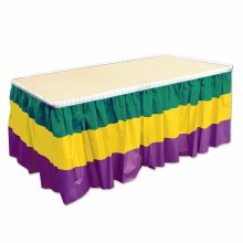 Mardi Gras Table Skirt GYP