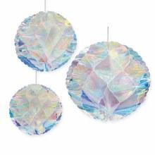 Iridescent Honeycomb Balls