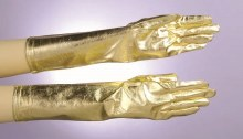 Gloves Gold Lame