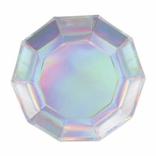 "Plates 7"" Iridescent Decagon"