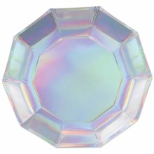 Plates Iridescent Decagon