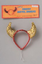 Horns Devil Red/Gold Sequin