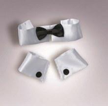 Colar/Tie/Cuff Set