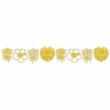 Palm Floral Gold DieCut Streamer