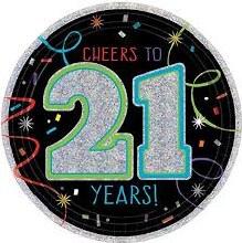 Brilliant 21st Birthday 7in Plate