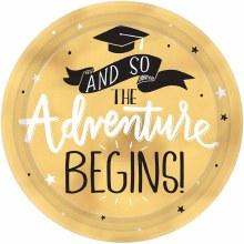 Adventure Begins Grad 7in Plate 8ct