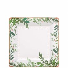 Love and Leaves 7in Square Plates