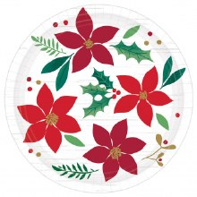 """Christmas Wishes Heavy Duty Dessert Plates ~ 8 Pack/12"""""""