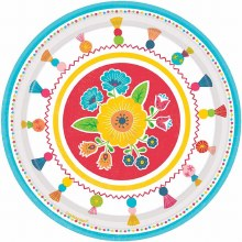 Fiesta Time 7in Plate 8ct
