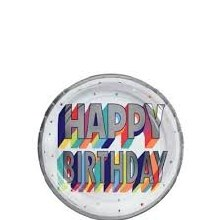 Happy Birthday 7in Plates 8ct