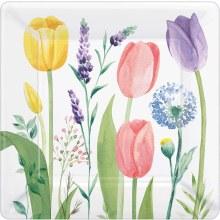 Tulip Garden 7in Sq Plt