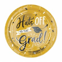 Hats off Grad 7in Plate 8ct
