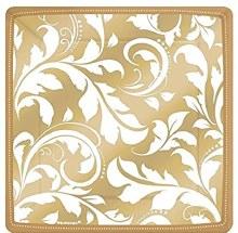Gold Elegant Scroll 7in Plt