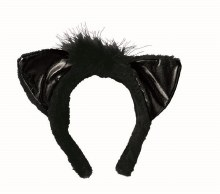 Cat Ears Lame Black