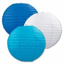 Lanterns Pape Blue/White/Teal