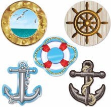Nautical Cutouts Mini 10pk