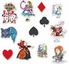 Alice in Wonderland Cutouts 12pk