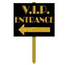 Yard Sign VIP Entrance Arrow