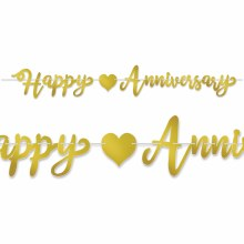Anniversary Streamer Gold
