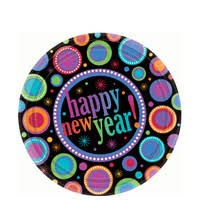 Happy New Years 7in Plate