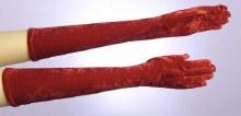 Gloves 20in Velvet Red