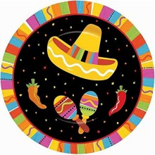 Fiesta Fun 7in Plates 8ct