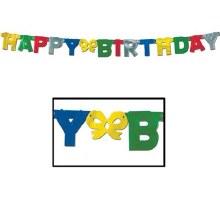 Foil Happy Birthday Banner
