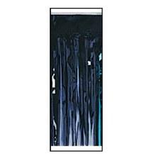 Tableskirt Fringe Foil Black