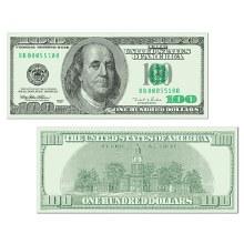 Cutout $100 Dollar Bill
