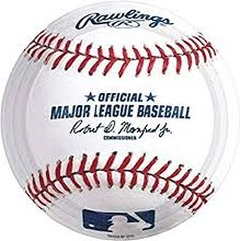 Baseball 9in Plates 8ct