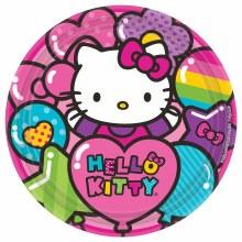Hello Kitty Rainbow 9in Plates