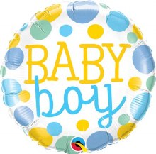 """Baby Boy Colorful Dots ~ 18"""""""