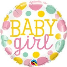 """Baby Girl Colorful Dots ~ 18"""""""