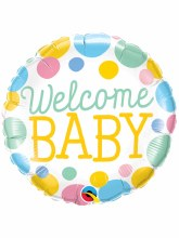"""Welcome Baby Colorful Dots ~ 18"""""""