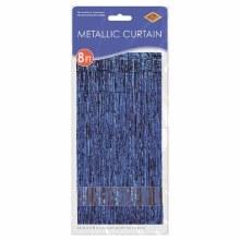 """Metallic Door Curtain Blue ~ 36"""" x 8'"""