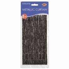 """Metallic Door Curtain Black ~ 36"""" x 8'"""