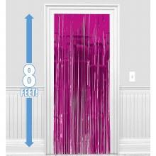 """Metallic Door Curtain Pink ~ 36"""" x 8'"""