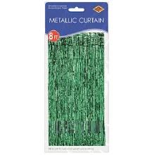 """Metallic Door Curtain Green ~ 36"""" x 8'"""