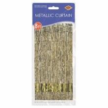 """Metallic Door Curtain Gold ~ 36"""" x 8'"""