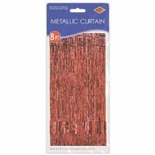 """Metallic Door Curtain Red ~ 36"""" x 8'"""